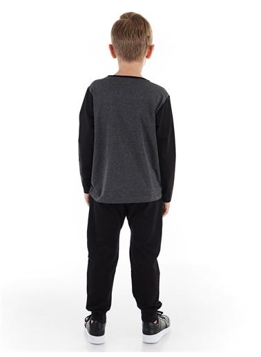 Denokids Yıldız Cepli Erkek Çocuk Pantolon Takım Gri